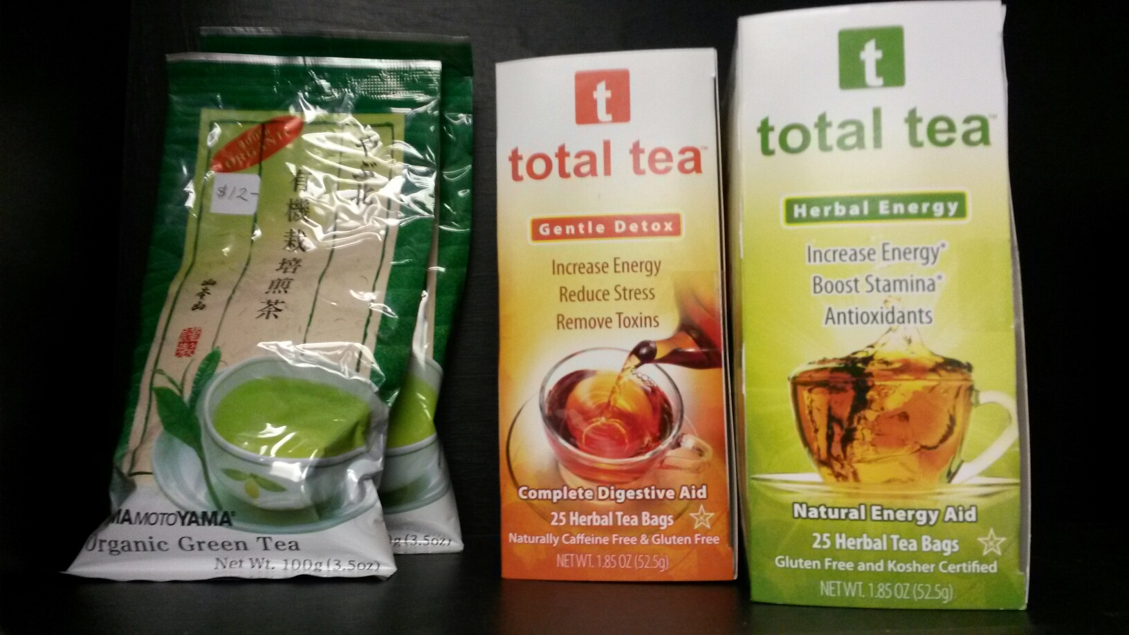 Teas available for purchase at Advanced Healthcare.