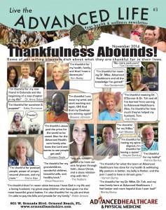 Live the Advanced Life November 2014 Newsletter